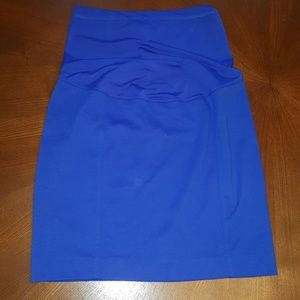NWOT Royal Blue Maternity Skirt